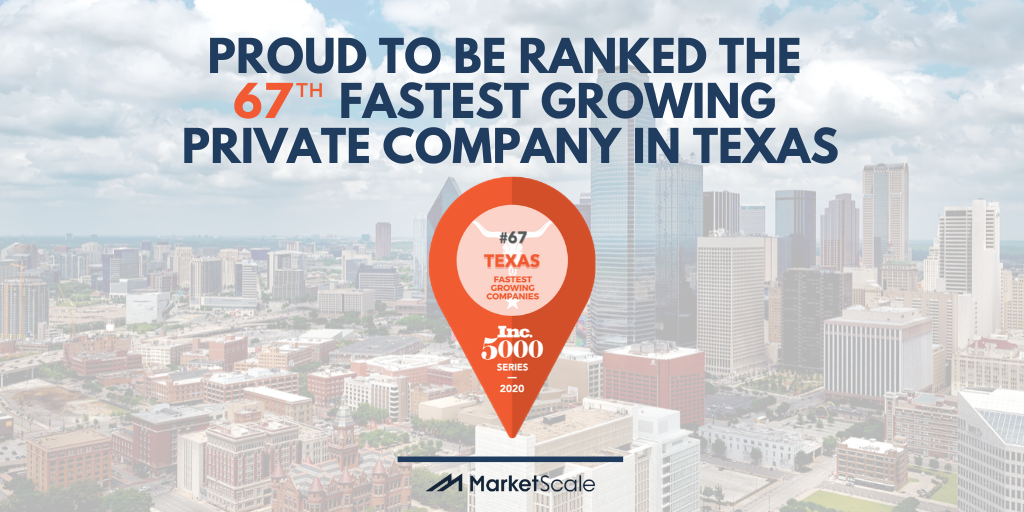MarketScale Named 67th Fastest Growing Private Company in Texas by Inc.
