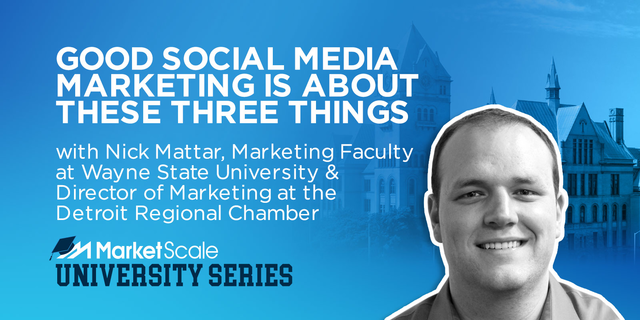Good Social Media Marketing is About These Three Things