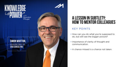 A Lesson in Subtlety: How to Mentor Colleagues