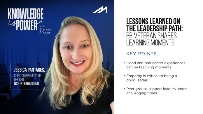 Lessons Learned on the Leadership Path